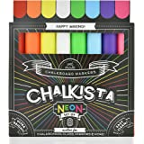 Liquid Chalk Markers For Chalkboard - Wet Erase Dustless Washable Paint Pens With Bold and Fine Tip - Use On Window Glass Blackboard White Board and Bistro Signs - 8 Pack By Chalkista