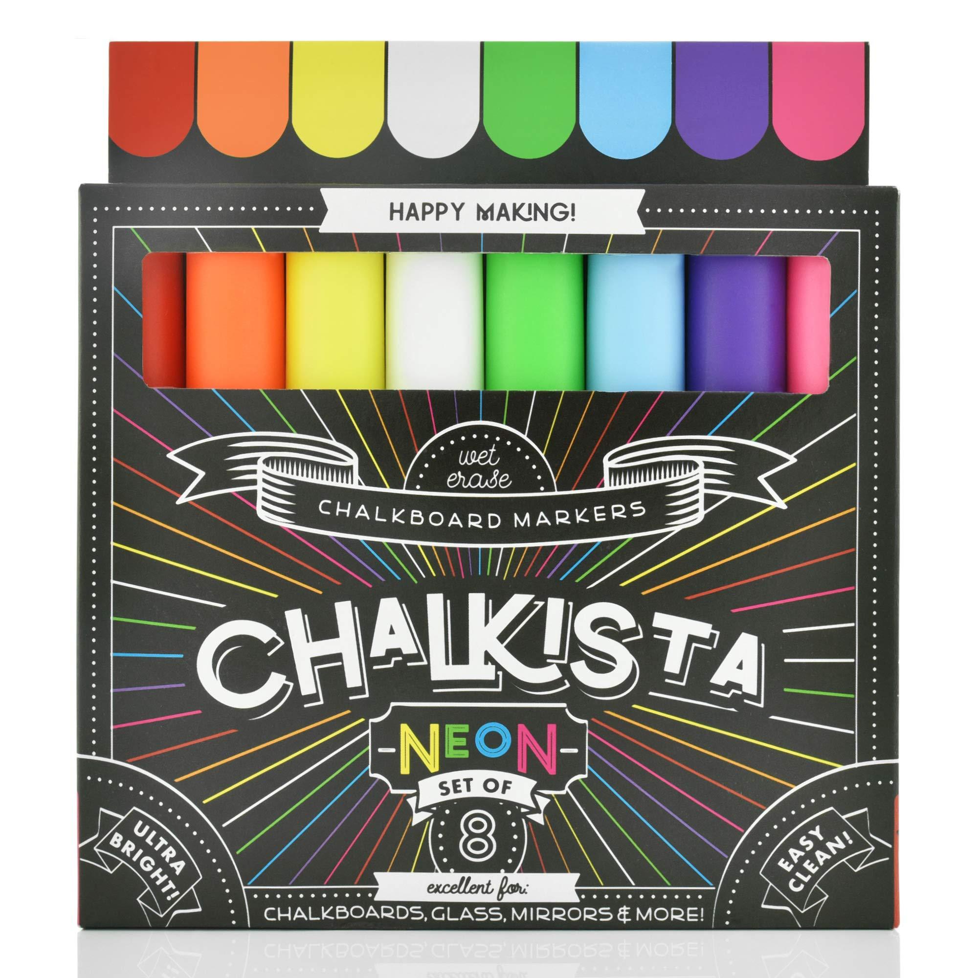 Marcadores de Tiza Liquida CHALKISTA 8 Un. Multicolor