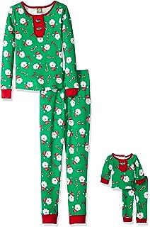 Amazon.com  Dollie   Me Girls  Snug Fit Sleepwear Set and Matching ... 2c7ed623f