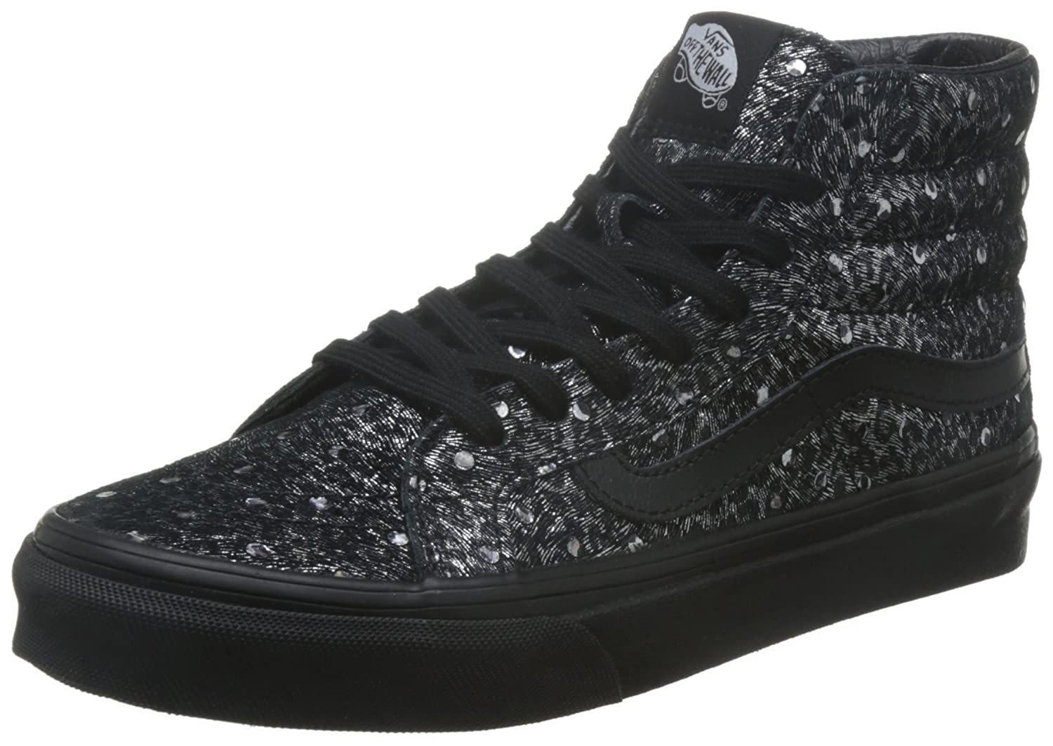 Vans Unisex SK8-Hi Slim Sneaker B011PM1ZVE 8.5 M US Women / 7 M US Men|Black