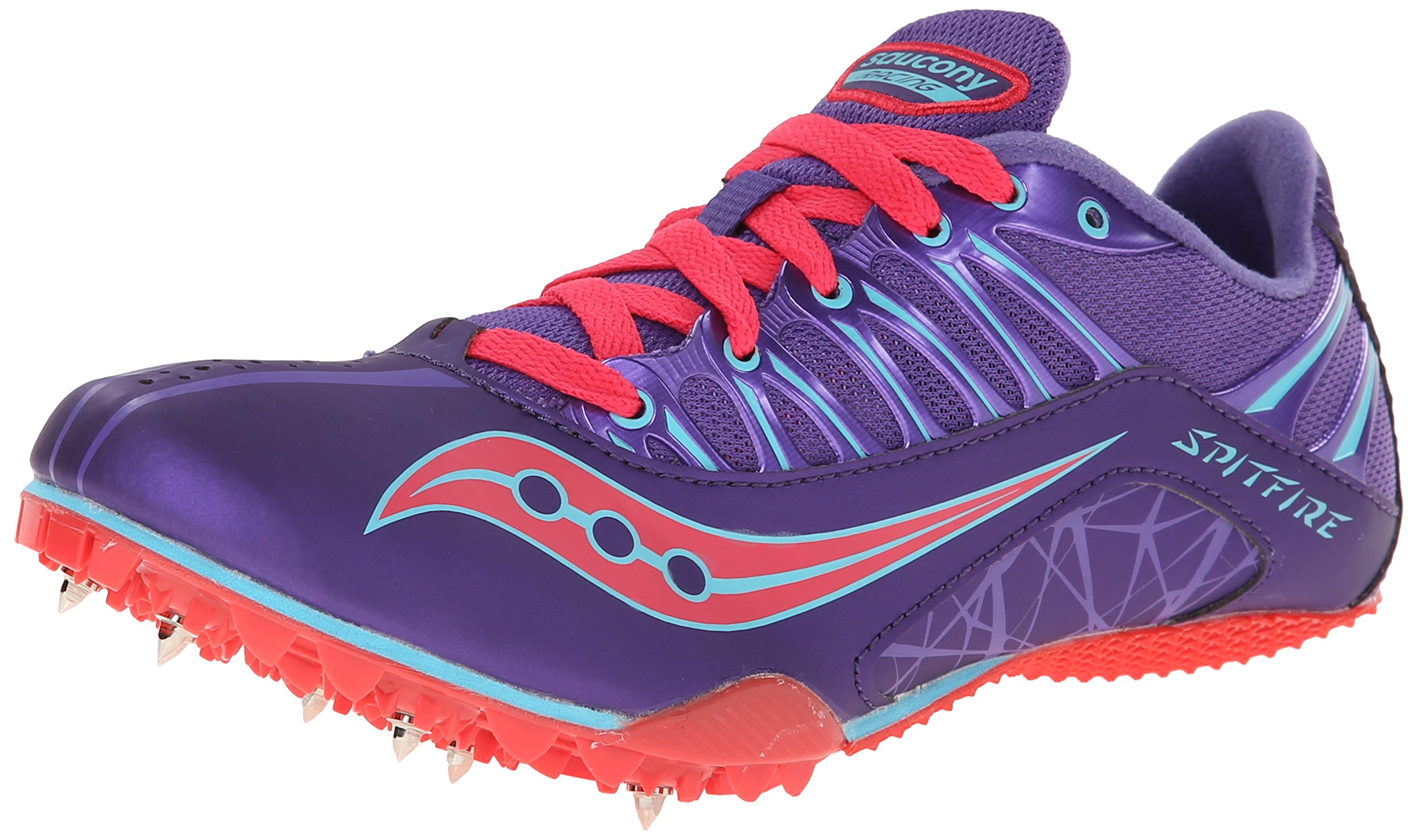 Saucony Women's Spitfire Track Spike Racing Shoe,Purple/Pink,12 M US