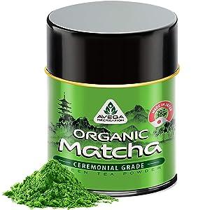 Organic Matcha Green Tea Powder - Authentic Japanese Top Ceremonial Grade Matcha Powder - 100% Pure Highest Quality 1st Harvest [1oz]