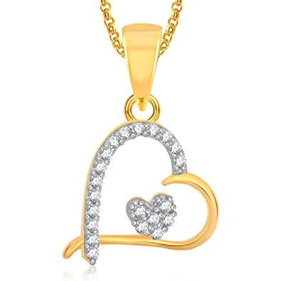buy meenaz heart gold plated pendant locket love valentine gifts