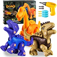 Yojoloin Dinosaurios Juguetes con Taladro Eléctrico,uego Construccion Puzzle Dinosaurios Incluyen Brachiosaurus…