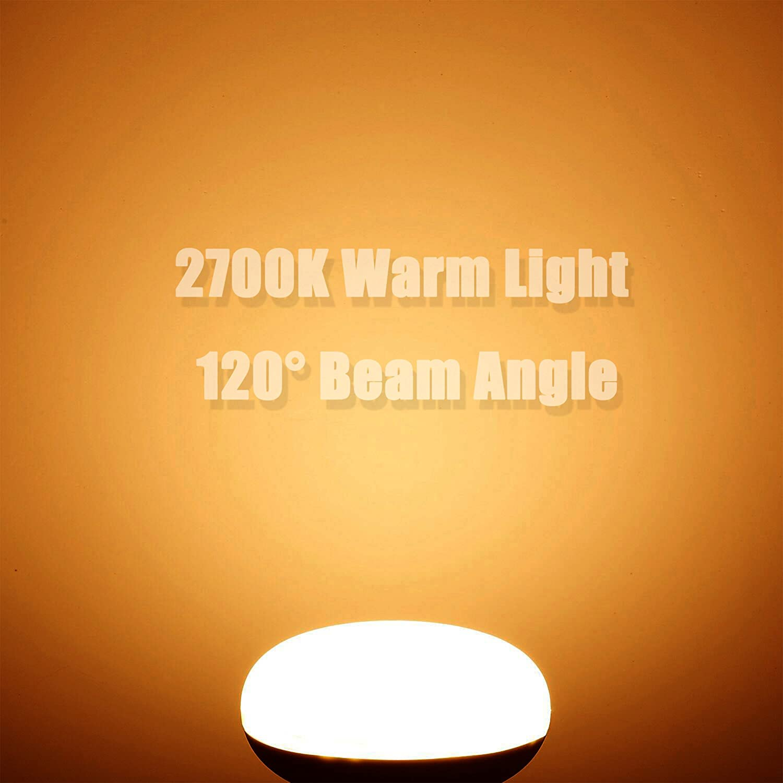 BR30 12 Watt Light Bulb Equivalent 120 Watt Incandescent Bulb Not Dimmable E26 Base 3000K Soft Light 120v 1200 Lumens 12-Pack