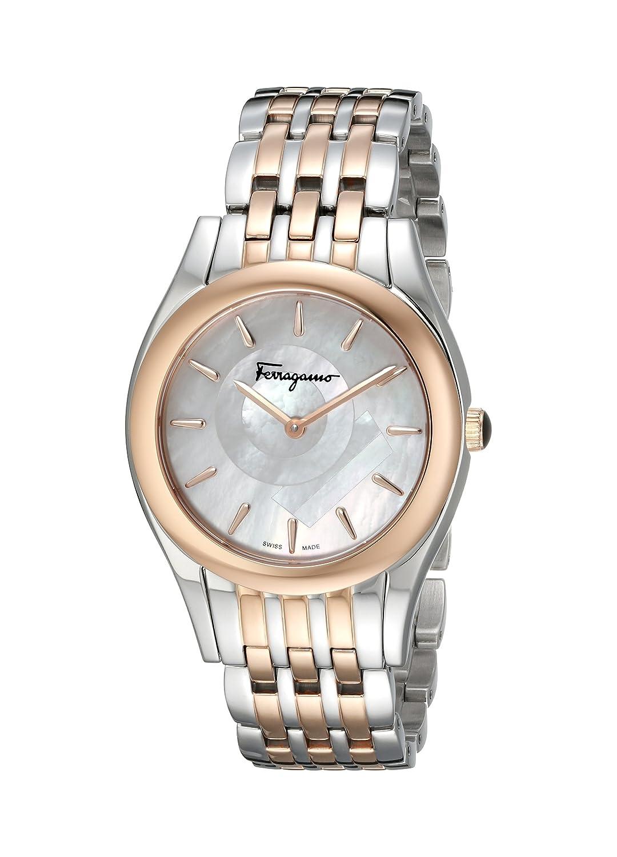 Salvatore Ferragamo Damen-Armbanduhr Bicolor fg4080015