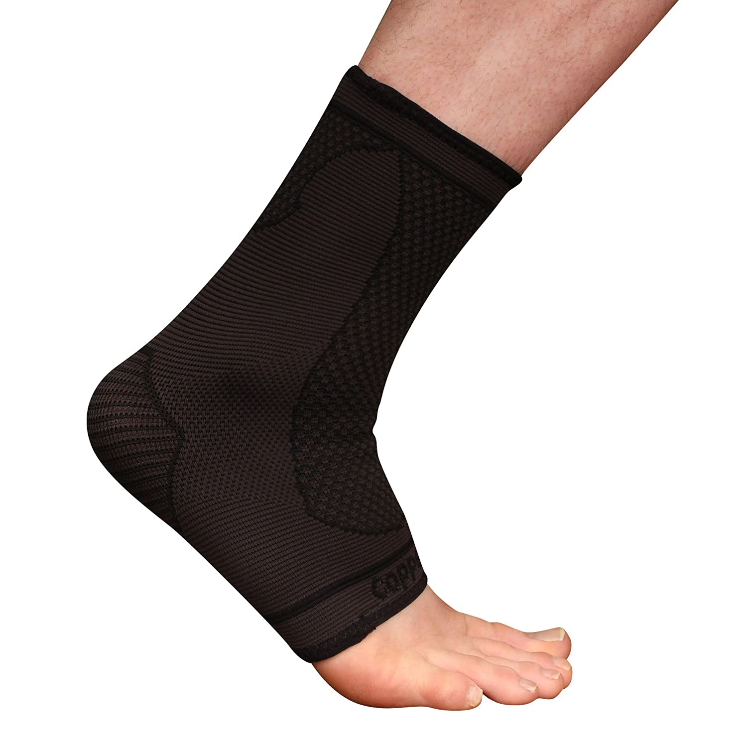 Copper D 1 Pair Black Rayon from Bamboo Copper Compression Ankle for Relief from Injuries and more or Comfort Support for Every Day Uses Small Medium
