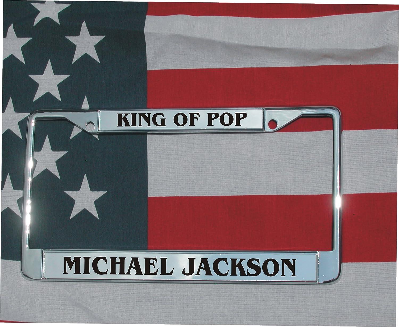 Amazon.com : MICHAEL JACKSON LASER ENGRAVED LICENSE PLATE FRAME KING ...
