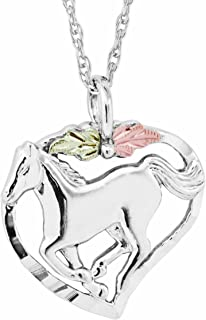 product image for Black Hills Gold on Silver Horse in Heart Pendant