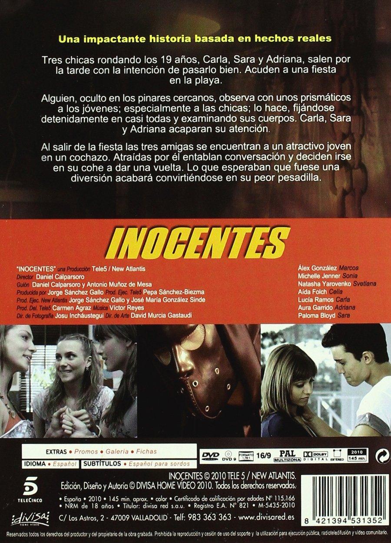 Inocentes [DVD]: Amazon.es: Alex Gonzalez, Aida Folch, Natasha Yarovenko, Michelle Jenner, Lucia Ramos, Paloma Bloyd, Aura Garrido, Varios, ...