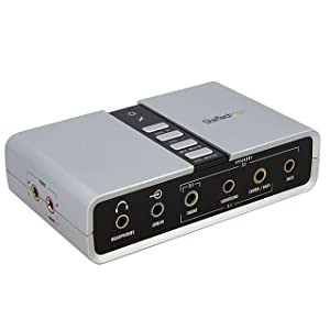 StarTech.com 7.1 USB Audio Adapter External Sound Card with SPDIF Digital Audio - External USB Laptop Sound Card