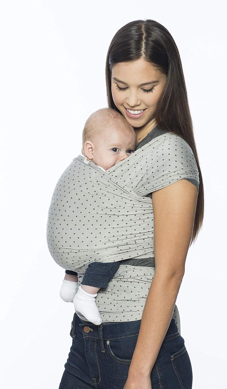 Ergonomic Ergobaby Aura Baby Wrap Grey Stripes