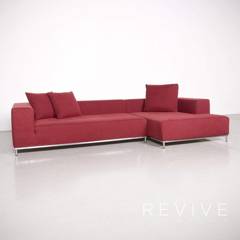 Whos Nuova Casa Granada Designer Stoff Ecksofa Rot Sofa ...