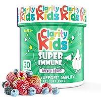 Clarity Kids Immune Support (Elderberry, Vitamin C, Probiotics & Zinc for Kids) Chewables - 30 Pieces, Black Elderberry…