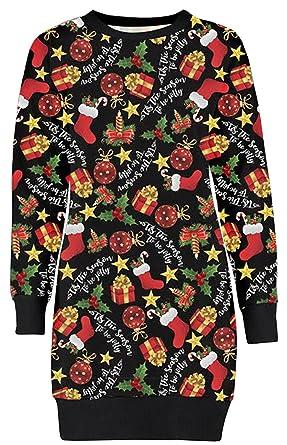 Ladies Christmas Hoodie New Womens Penguin Reindeer Xmas Fleece Jumper UK 8-22