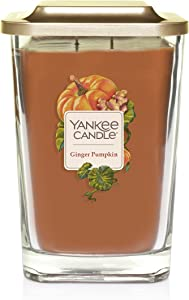 Yankee Candle Company Elevation Collection with Platform Lid, Large | 2-Wick, Ginger Pumpkin