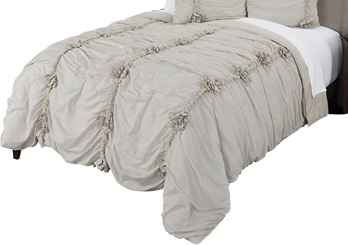 Rizzy Home Aiyana Quilted Bedding, King, Natural