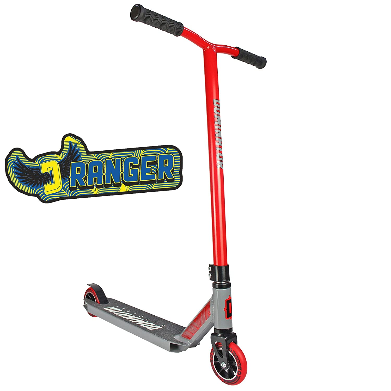 Dominator Ranger Pro Scooter - Stunt Scooter - Trick Scooter (Red/Grey) Dominator Scooters