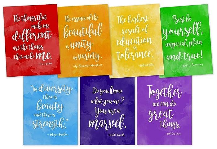 Amazoncom Rainbow Of Diversity Motivational Posters Set