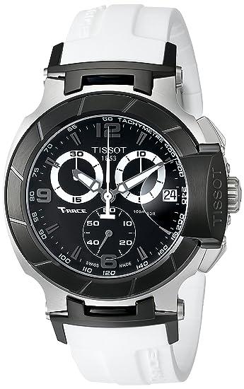 Tissot T0484172705705 - Reloj de caballero de cuarzo, correa de goma color blanco: Tissot: Amazon.es: Relojes