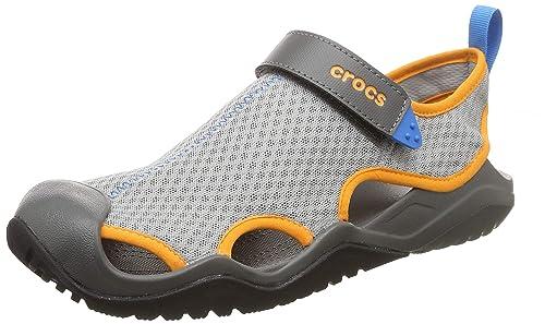 5dc13bacd Crocs Men s Swiftwater Mesh Deck Sandal M Closed Toe  Amazon.co.uk ...