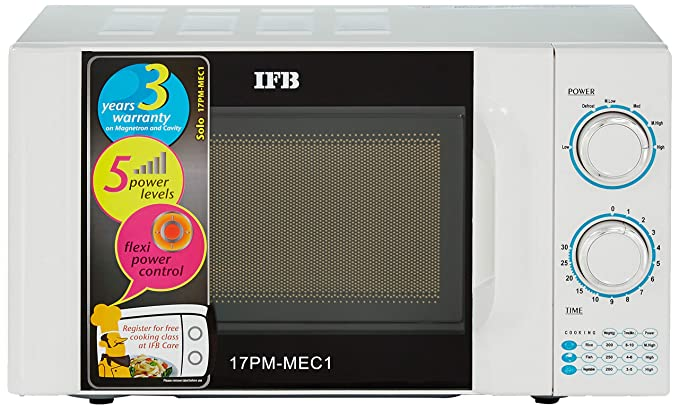 IFB 17 L Solo Microwave Oven  17PM MEC 1, White  Microwave Ovens