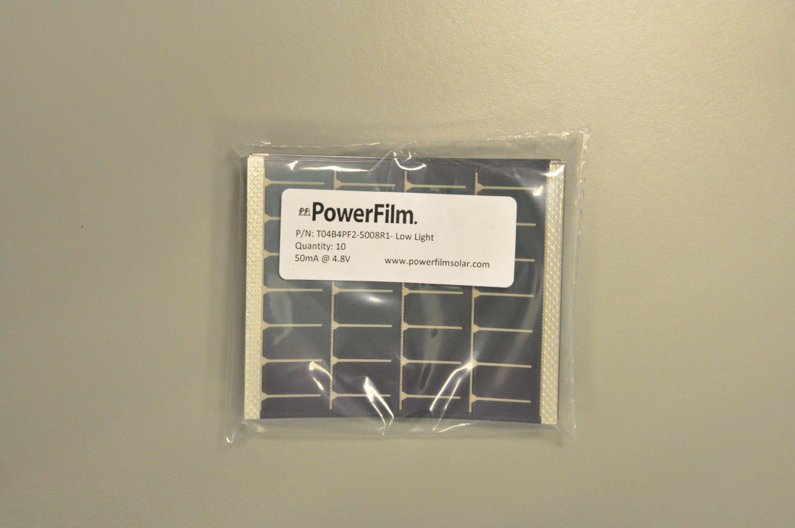 PF POWERFILM OEM Low-light Solar Module 50mA@4.8V (10/pkg) by PF POWERFILM