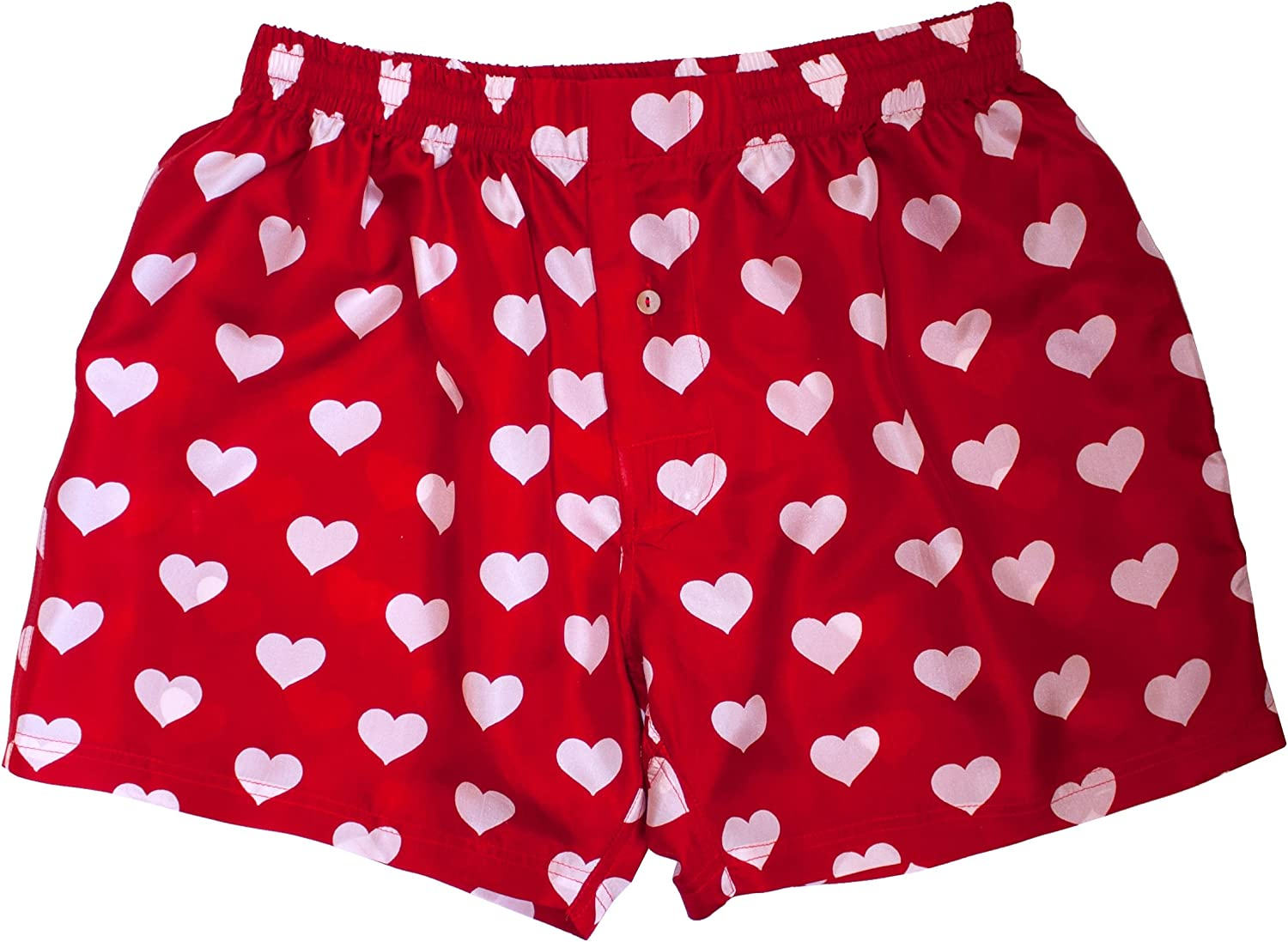 Red Jigsaw Puzzle Heart Boxer Shorts Fun Romantic Valentines XNBS045