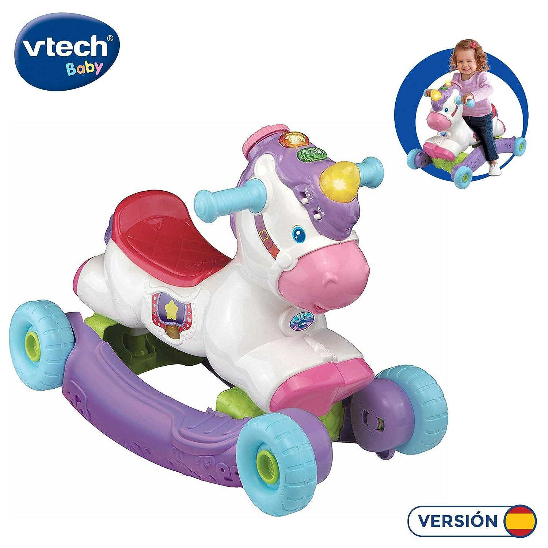 VTech- Unicornio BALANCÍN 2 EN 1, Multicolor, Talla Única (3480 ...