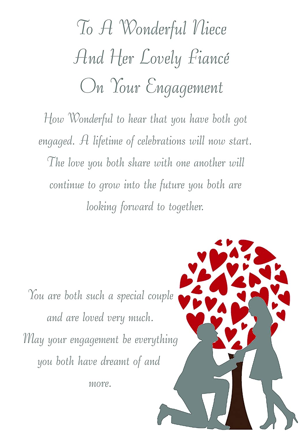 Niece /& Fiance Engagement Card Zee Bee/\'s Christmas gift ideas 2018
