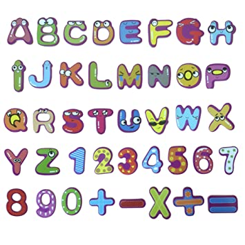 Amazon 26 Capital Letters Fridge Magnets Fun Kindergarten