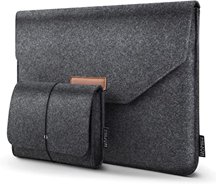 "12/""13.3/"" Drop-proof Laptop Felt Sleeve Bag Matte Case for 2018 MacBook Air Pro"