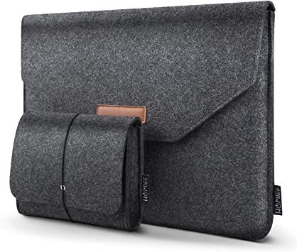 HOMIEE 13-13.3 Inch Felt Laptop Sleeve Portable MacBook Case for MacBook Pro 2016-2019, MacBook Air 2017-2019, 12.9