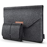 "HOMIEE 13-13,3 Pouces Housse pour Ordinateur Portable Apple New MacBook Pro, MacBook Pro Retina, MacBook Air, 12.9"" iPad Pro, Dell XPS, Lenovo/HP/Chormebook, Gris Foncé"