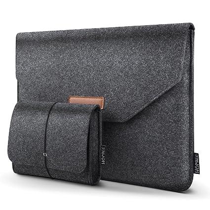 9ec3093fbe47 HOMIEE 13-13.3 Inch Felt Laptop Sleeve Portable MacBook Case for MacBook  Pro 2016-2018, MacBook Air 2017-2018, 12.9