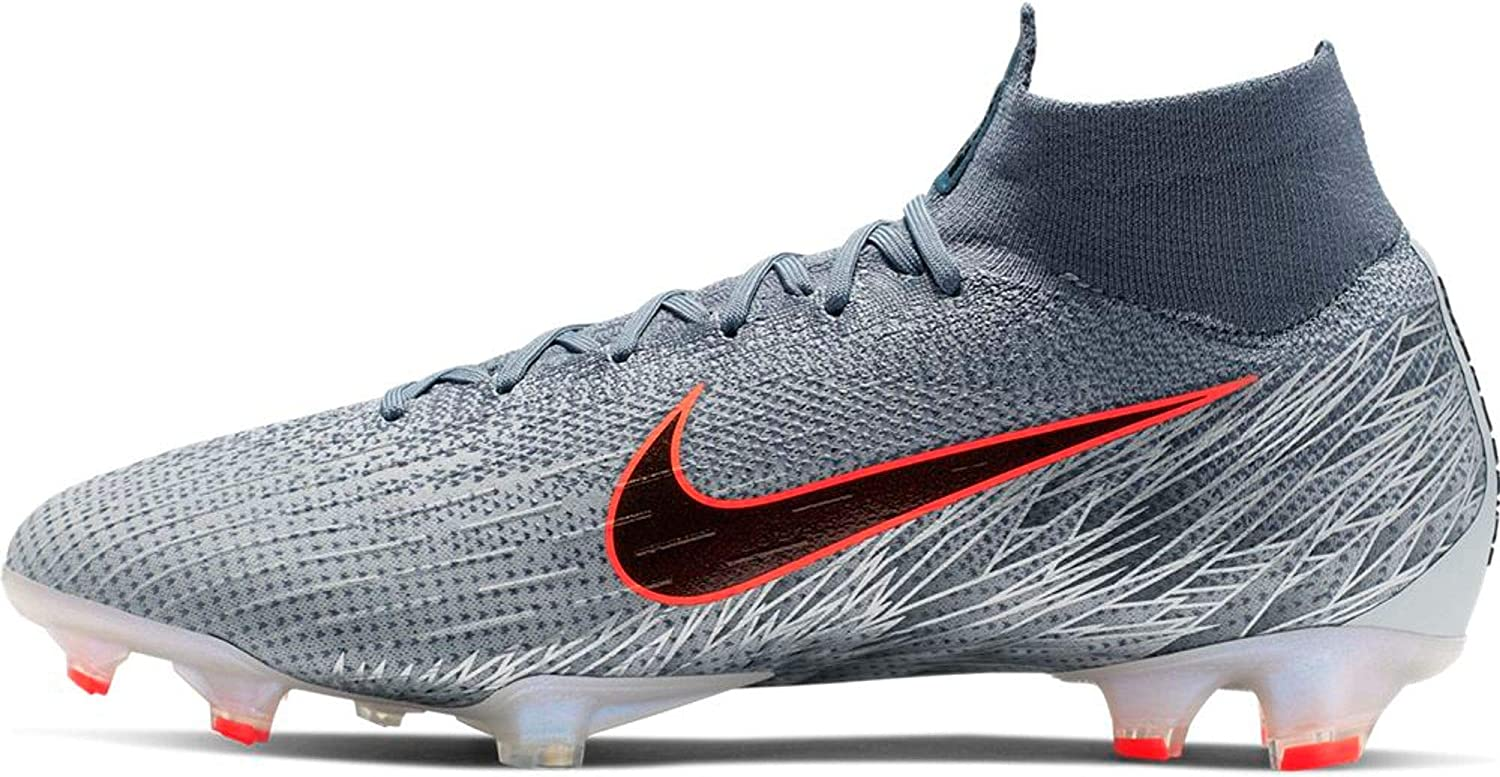 Nike Men's Superfly 6 Elite FG Soccer Cleats (Wolf Grey/Black/Armory Blue)  (9 M US)