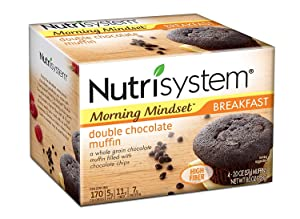 Nutrisystem Morning Mindset Double Chocolate Muffins, 2 oz, 4 count