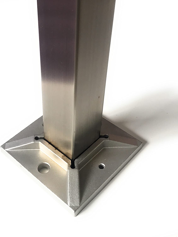Crosi Poteau de rambarde avec bride au sol en acier inoxydable Version massive/ /angeschwei/ßte Plateau Tuyau poteaux Bayram poller et rampe descalier en acier inoxydable