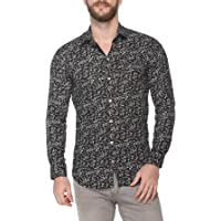 Levizo Men's 100% Cotton Designer Printed Full Sleeves Slim Fit Shirt