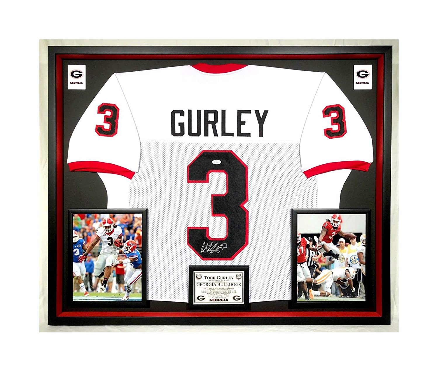 3bbdb01bd Premium Framed Todd Gurley Autographed Signed Georgia Bulldogs Jersey - UGA  - JSA COA at Amazon s Sports Collectibles Store
