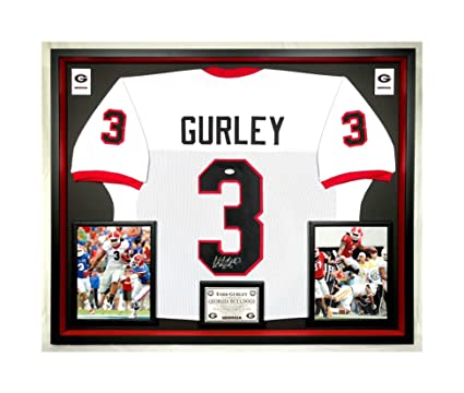 sports shoes bc2ed fb6e3 Premium Framed Todd Gurley Autographed/Signed Georgia ...