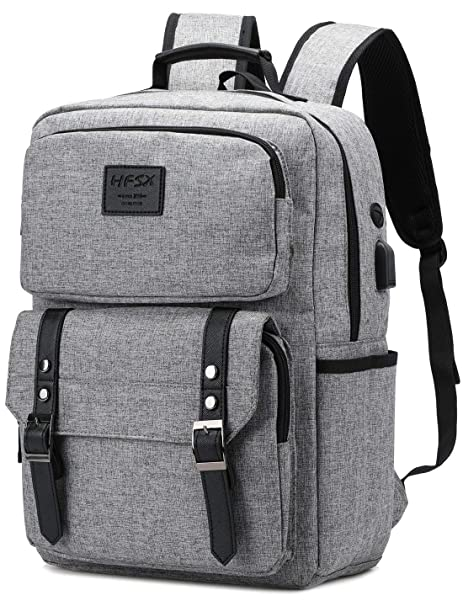 1d61a9274af9 Vintage Laptop Backpack for Women Men Stylish Backpack College School  Backpack with USB Charging Port Business