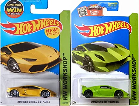 Amazon Com Lamborghini Hot Wheels Yellow Huracan New Casting 2015 2