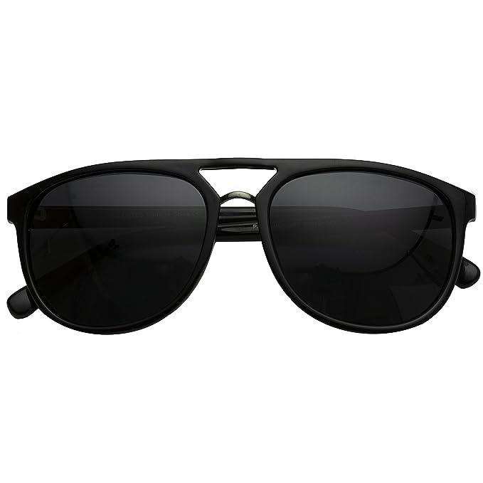 7d06add004 Amazon.com  WearMe Pro - Top Bar Polarized Lens Men Driving Pilot Aviator  Sunglasses  Clothing