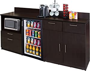 Coffee Kitchen Lunch Break Room Furniture Cabinets Fully Assembled Ready to Use 2pc Group Model 3289 Color Espresso - Instantly Create Your New Break Room!!! (Note: Purchase Includes Furniture ONLY).
