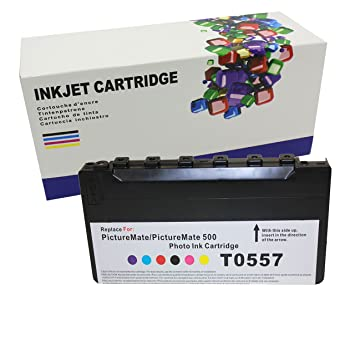 Hi Ink 1 Pack T5570 Toner Cartridges To Replace Epson Picturemate