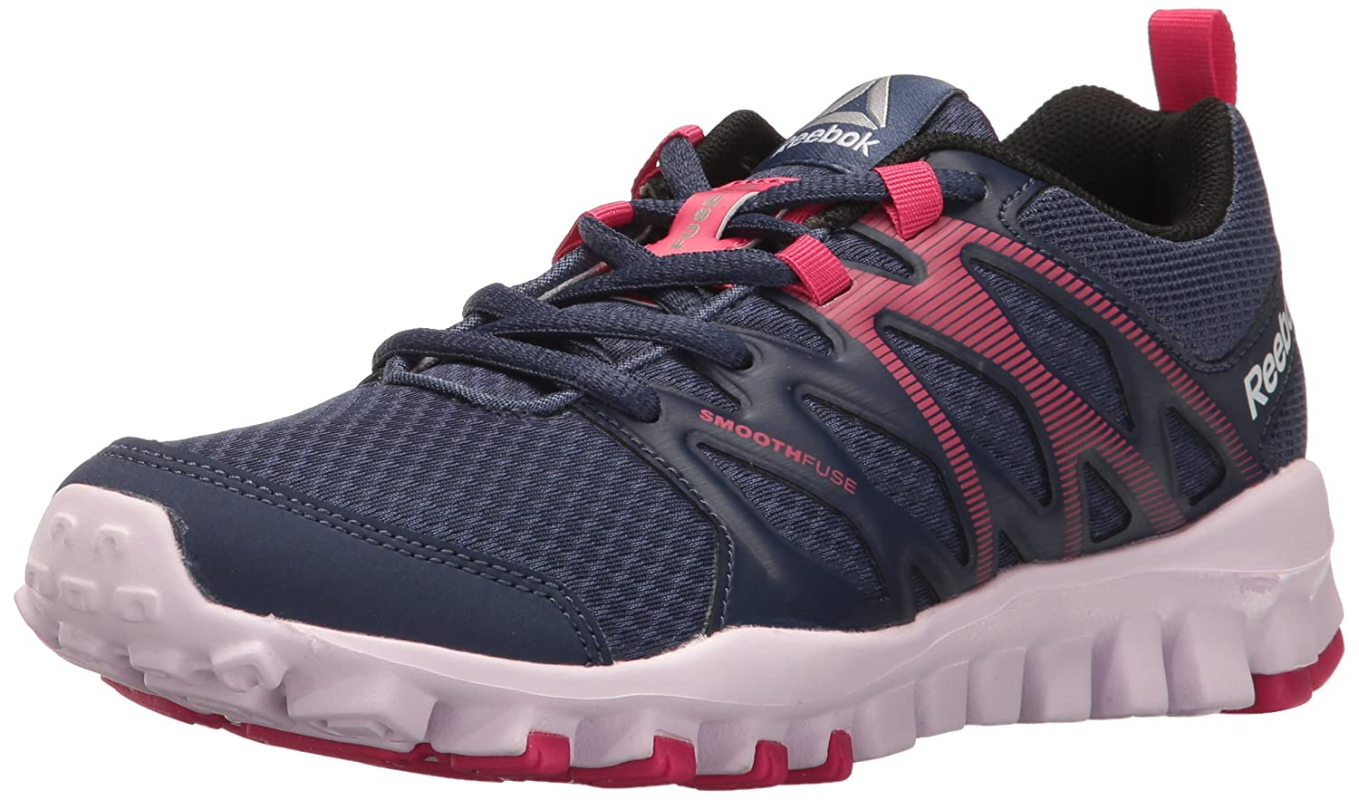 Reebok Women's Realflex Train 4.0 Cross-Trainer Shoe B01I0D5WWY 7 B(M) US|Blue Ink/Pink Craze/Black/Lucid Lilac/Silver