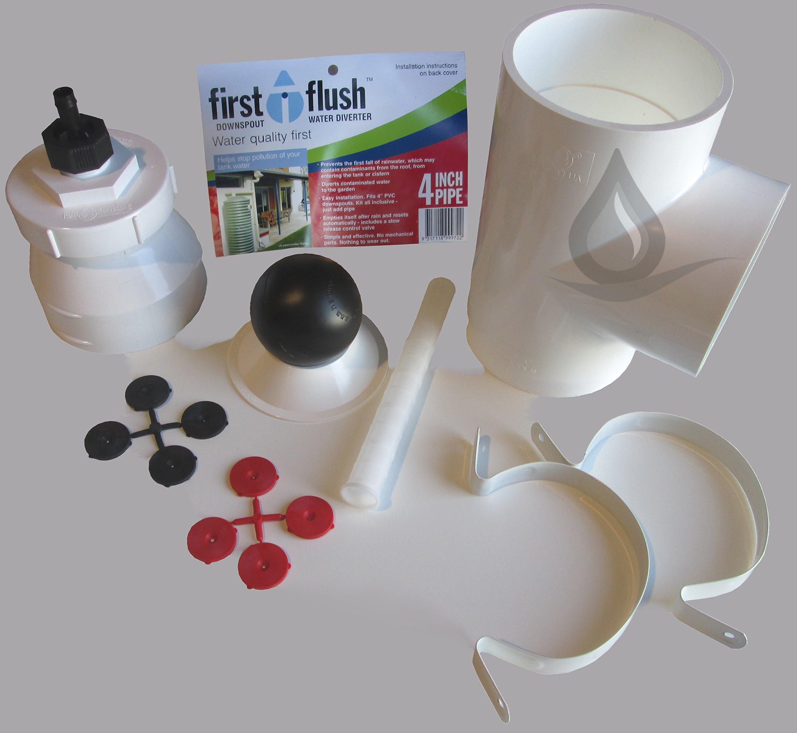Rain Harvesting WDDS98 Downpipe First Flush Water Diverter Kit