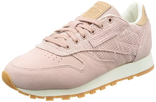 Mojado Especialista Beber agua  Buy Reebok Women's Cl Leather Ebk Gymnastics Shoes Pink (Shell  Pink/Chalk/Lilac Ash/Vegtan-Gum) 6.5 UK at Amazon.in