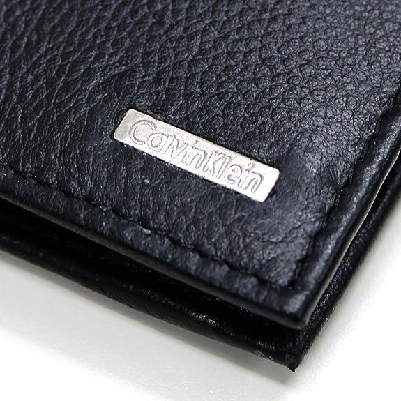 5484c36e387f Amazon | (カルバンクライン) Calvin Klein 二つ折り レザー 財布 プレゼント 男性 彼氏 ブランド [並行輸入品]/ ブラック  | Calvin Klein | 財布